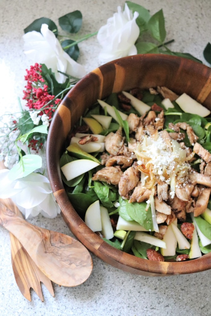 honey balsamic pear salad